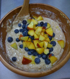 Blueberry Nectarine Struesel Muffins