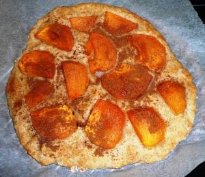 Persimmon and cinnamon pizza