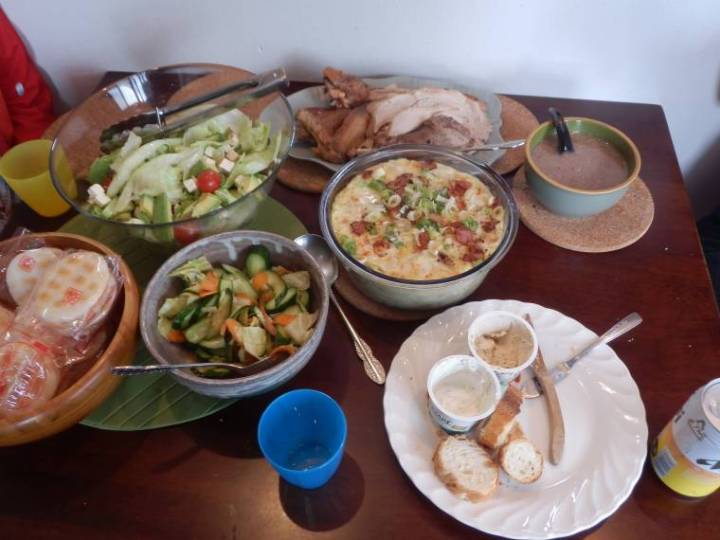 Thanksgiving table in Japan